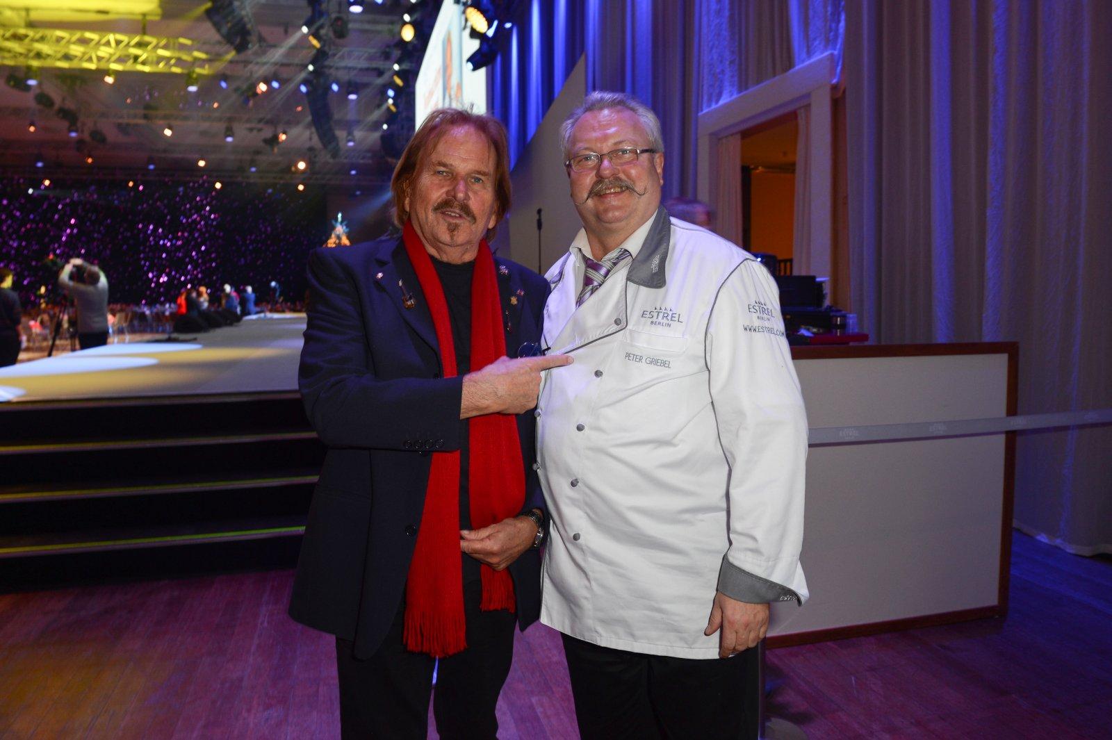 Frank Zander und der Küchendirektor des Estrel Berlin, Peter Griebel