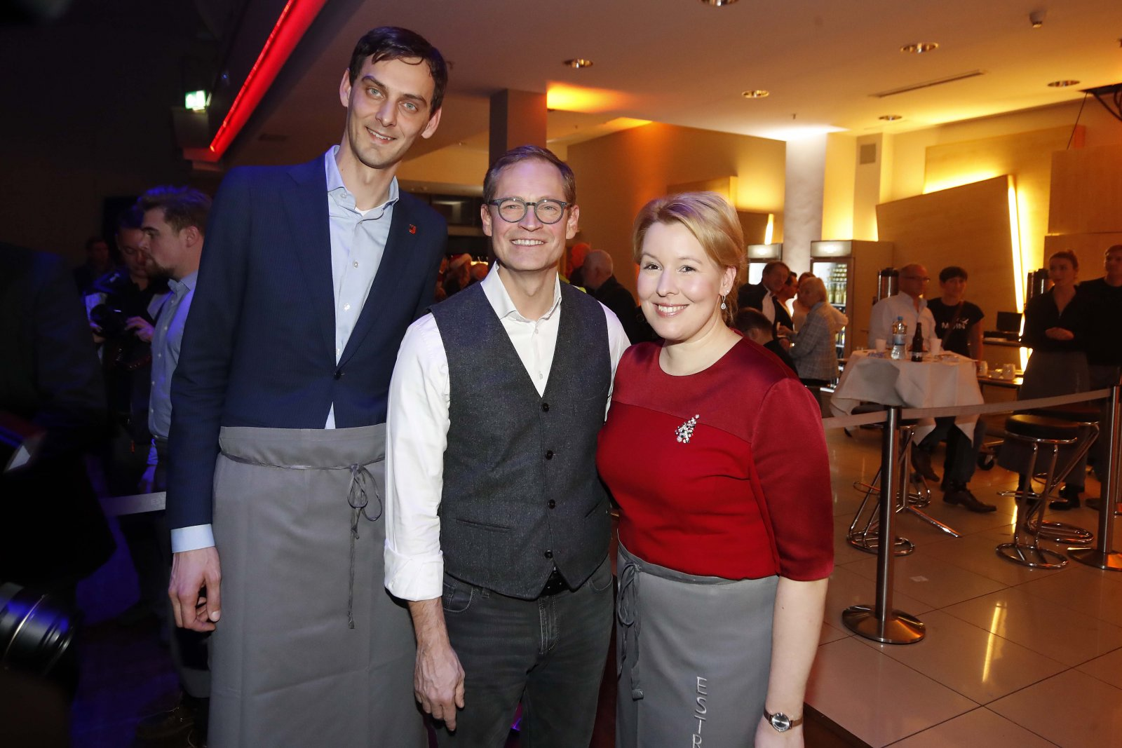 Martin Hikel, Michael Müller, Dr. Franziska Giffey