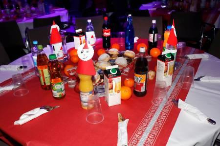 Weihnachtsfeier Frank Zander Tisch